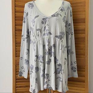 ISABEL Floral Long Sleeve V-Neck Maternity Top